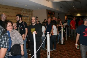 The line to meet Danny trejo is longer than his favorite machete